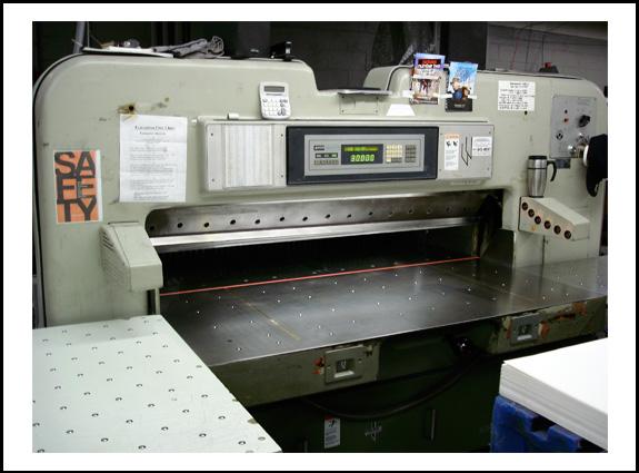 used paper cutting machine